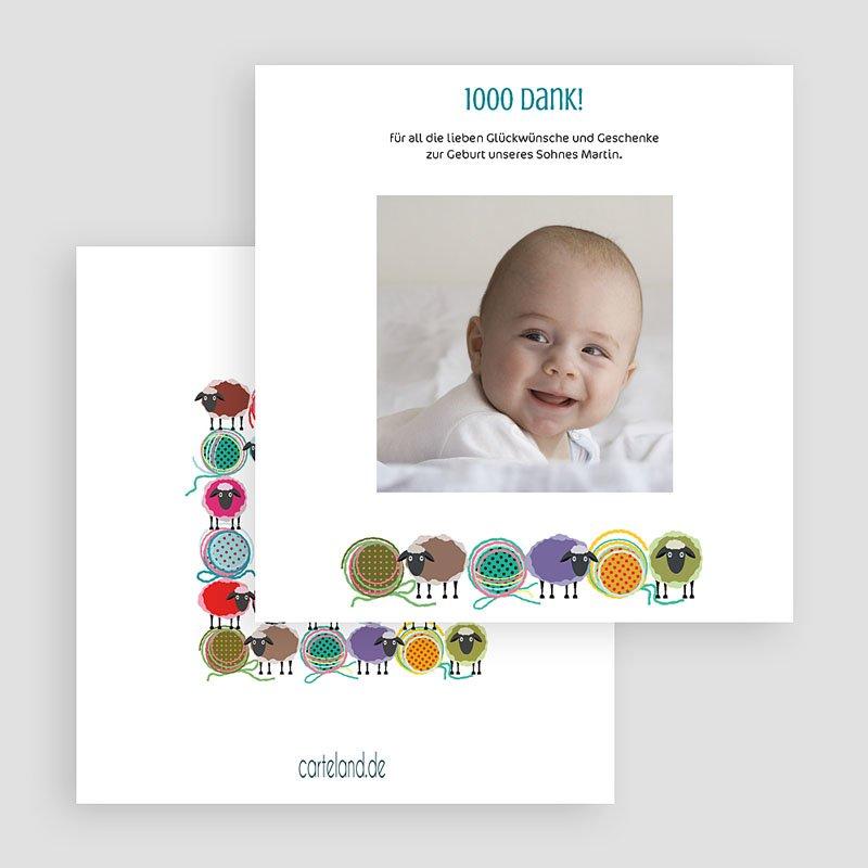Dankeskarten Geburt für Mädchen Schafherde gratuit