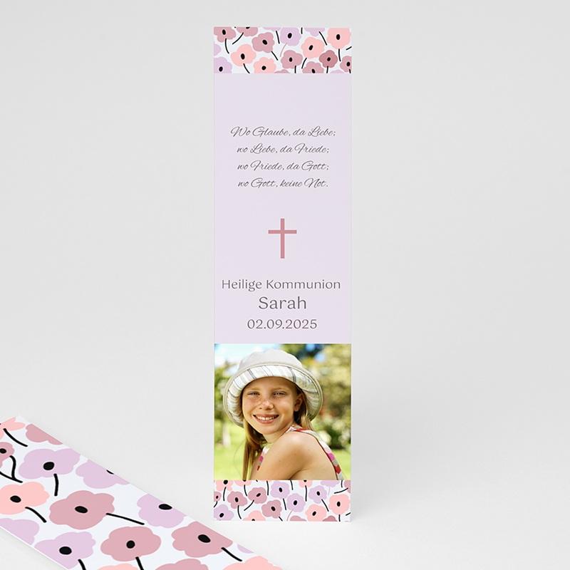Personalisierte Lesezeichen Rosablüten