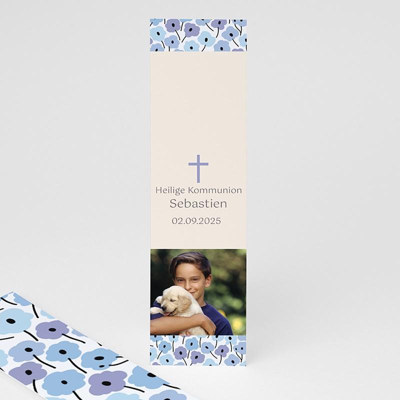 Lesezeichen - Blaue Blumen 21581 thumb