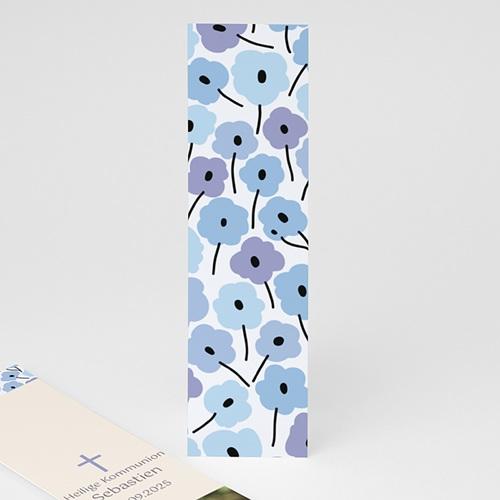 Lesezeichen - Blaue Blumen 21582 test