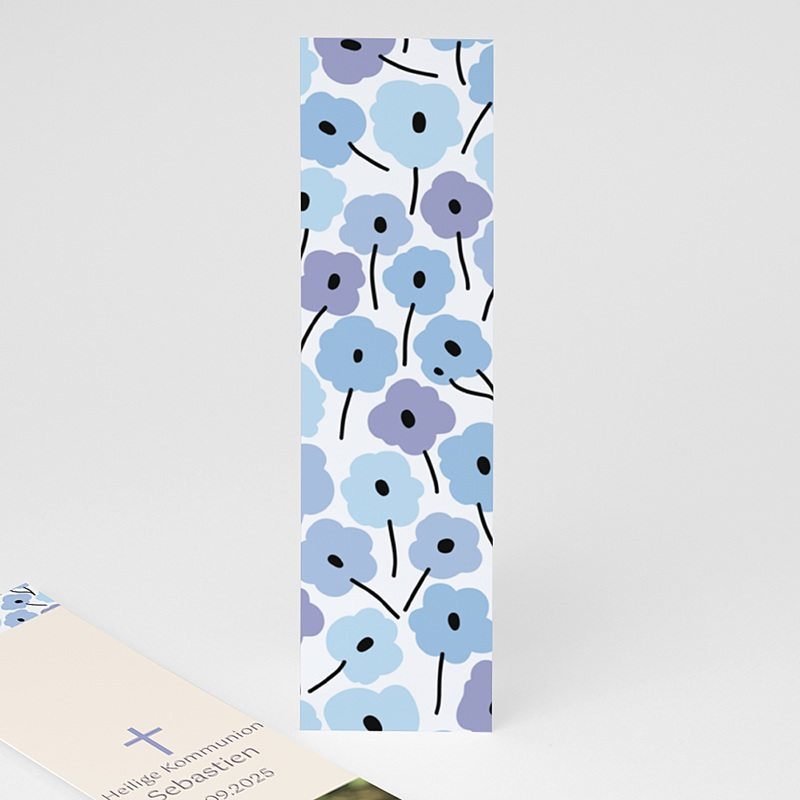 Lesezeichen - Blaue Blumen 21582 thumb