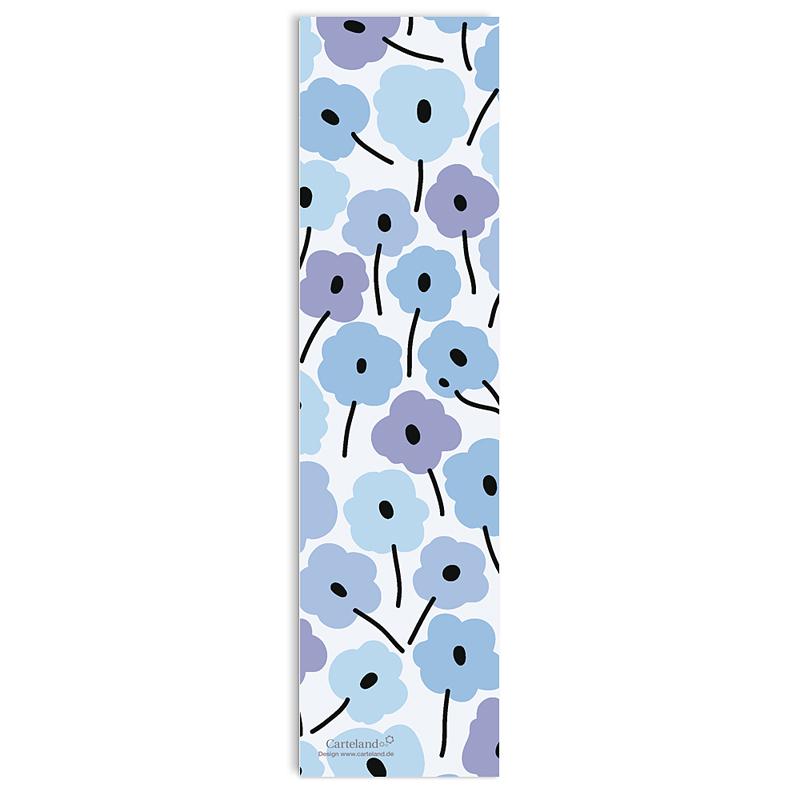 Lesezeichen - Blaue Blumen 21583 thumb