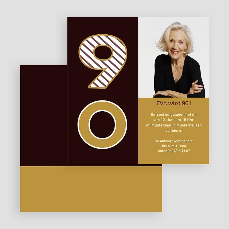 Erwachsener Einladungskarten Geburtstag Ehrentag  gratuit