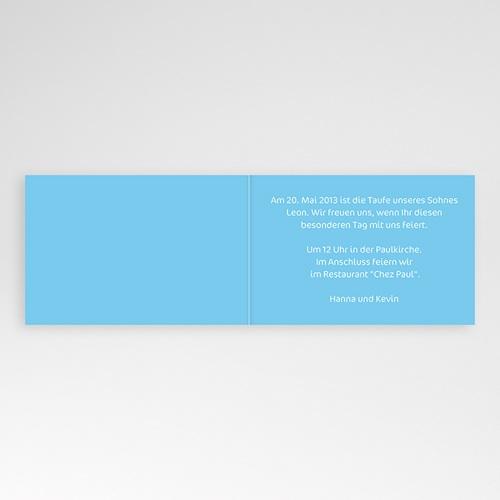 Einladungskarten Taufe Jungen  - Justus 21726 test
