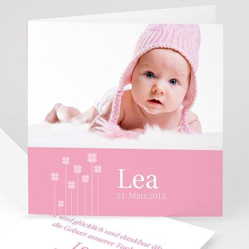 Geburtskarten für Mädchen - Rosa Floral 21734