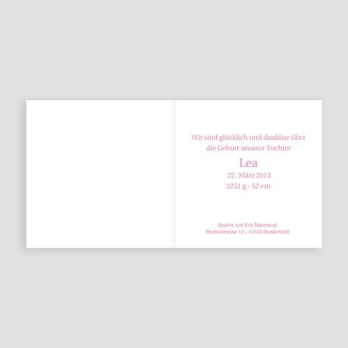 Geburtskarten für Mädchen - Rosa Floral 21735 preview
