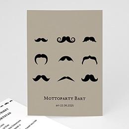 Einlegekarte Anniversaire adulte Motto Bart