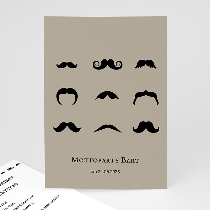 Erwachsener Einladungskarten Geburtstag Motto Bart