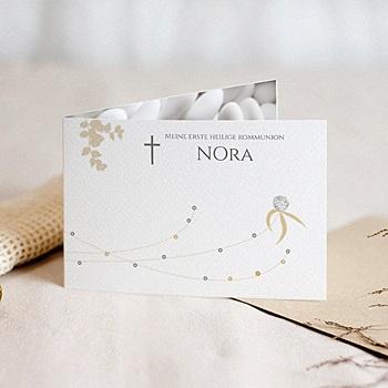 Einladungskarten Kommunion Mädchen Blatt