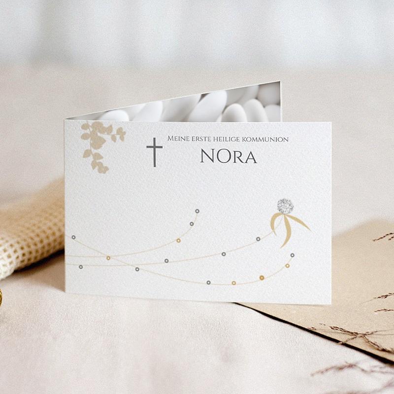 Einladungskarten Kommunion fur Mädchen Blatt