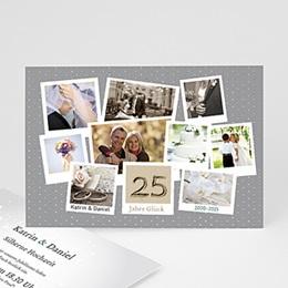 Einlegekarte Anniversaire mariage Fotoreihe