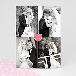 Danksagungskarten Hochzeit  - Fotokarte - 1