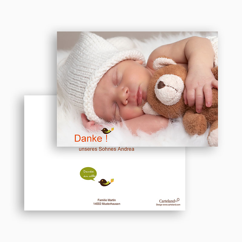 Dankeskarten Geburt Mädchen - Esprit Bohème 21867 thumb