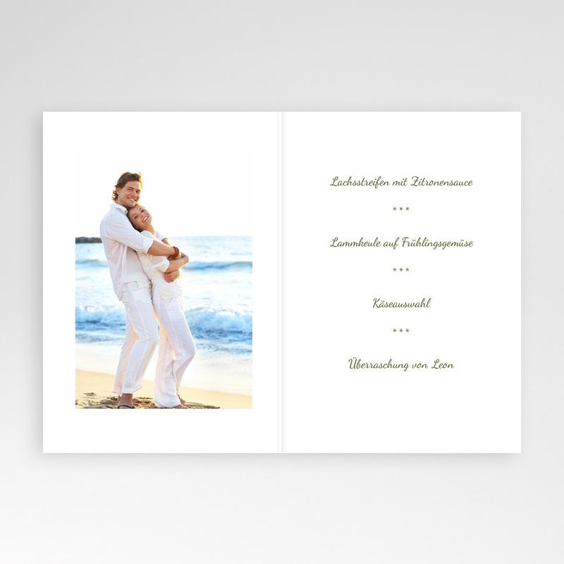 Menükarten Hochzeit  Anisfarben pas cher