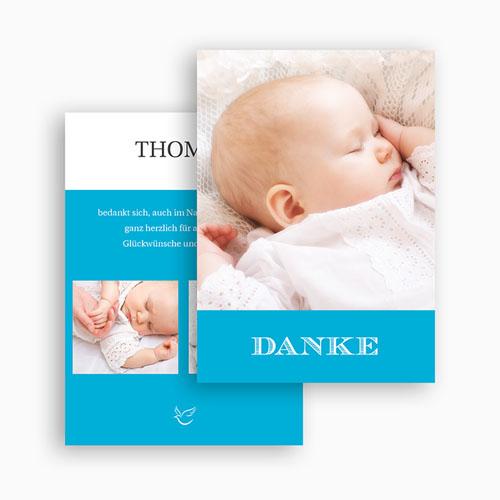 Dankeskarten Taufe Jungen - Monogramm 21898 thumb