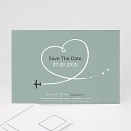 Save the date Hochzeit Flugziel Glück