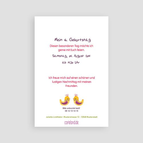 Geburtstagseinladungen Mädchen - Blumiges Portrait 22026 test