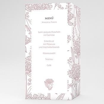 Menükarten Hochzeit  - Ein Flair von früheren Zeiten - 1