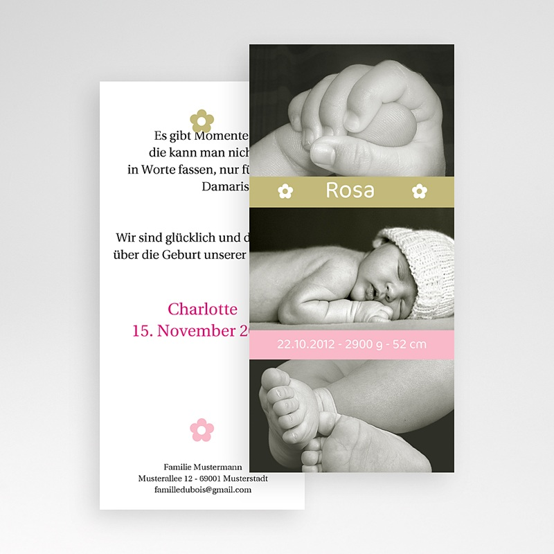 Geburtskarten für Mädchen - Lea 2207 thumb