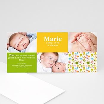 Geburtskarten für Mädchen - Babykarte Geschwister - 1