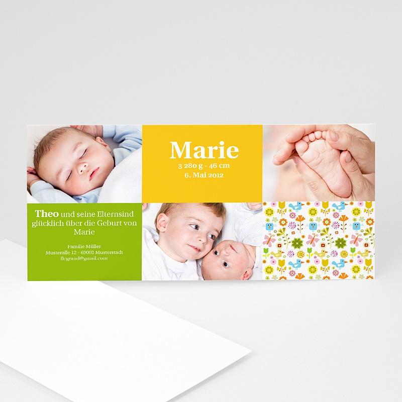 Geburtskarten für Mädchen Geschwister
