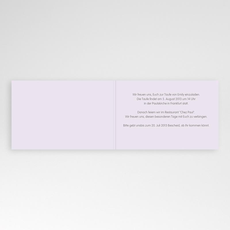 Einladungskarten Taufe für Mädchen Blumenbeet rosé pas cher