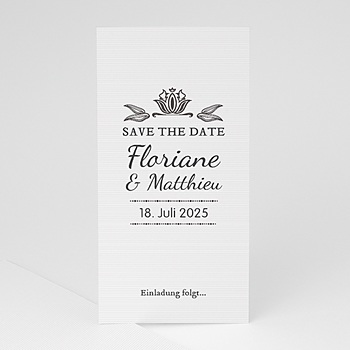 Save The Date  - Vintage Ornament - 1