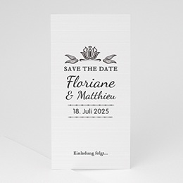 Save The Date  Vintage Ornament