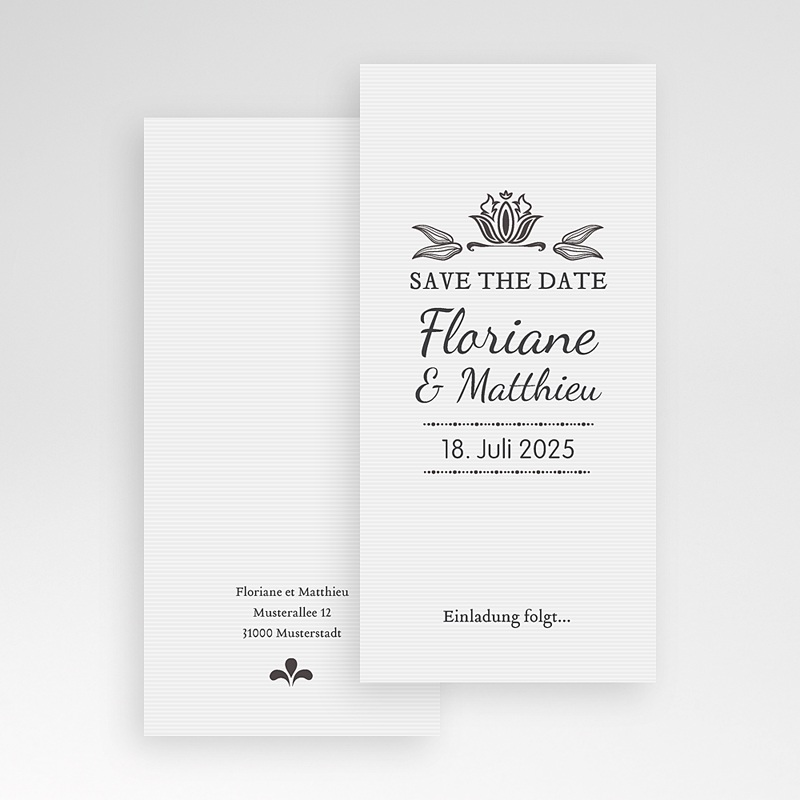 Save The Date  - Vintage Ornament 22265 thumb