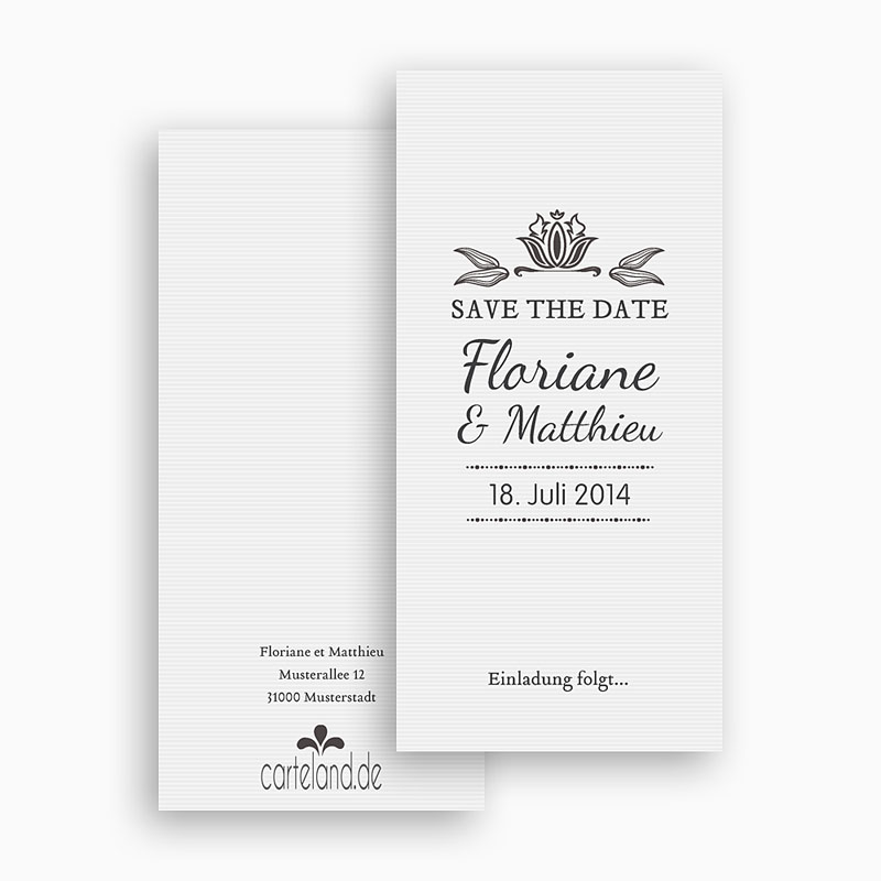 Save The Date  - Vintage Ornament 22266 thumb