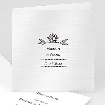 Einladungskarten Hochzeit  - Vintage Ornament - 1