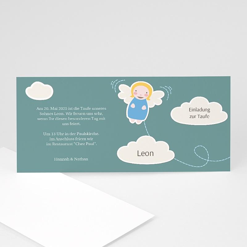 Einladungskarten Taufe für Jungen Engelstaufe