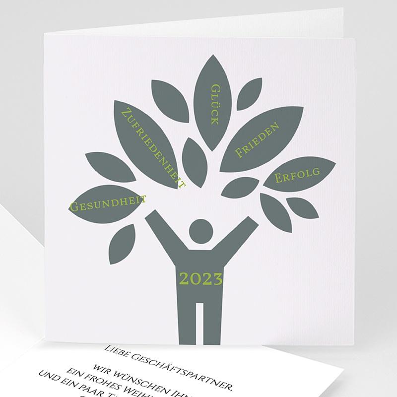 Geschäftliche Weihnachtskarten Wunschbaum