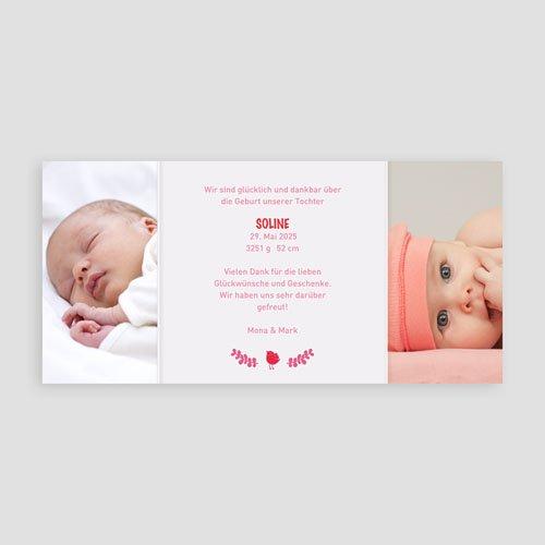Geburtskarten für Mädchen Hochzeitsflair pas cher