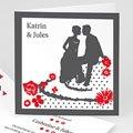 Einladungskarten Hochzeit  - Rot & Grau 22406 test