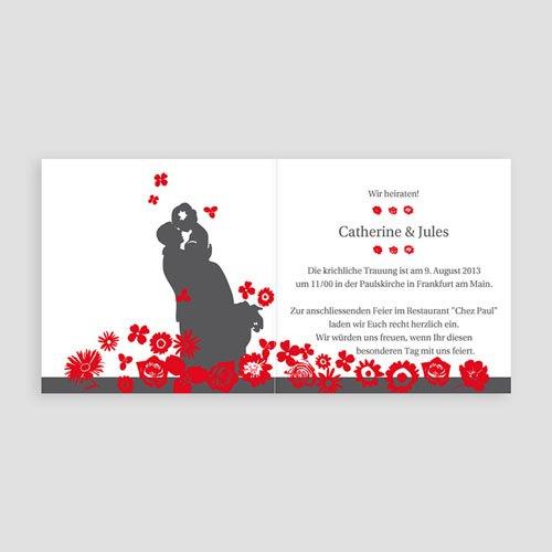Hochzeitseinladungen modern - Rot & Grau 22407 preview