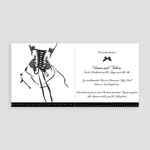 Hochzeitseinladungen Zeremonie pas cher