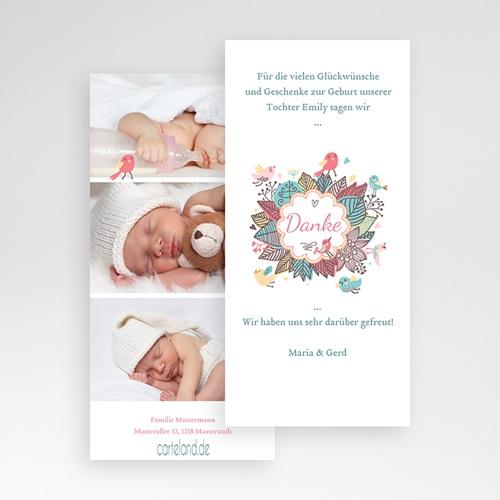 Dankeskarten Geburt Mädchen - Vogelkonzert 22481 preview