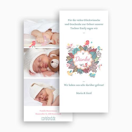Dankeskarten Geburt Mädchen - Vogelkonzert 22482 preview
