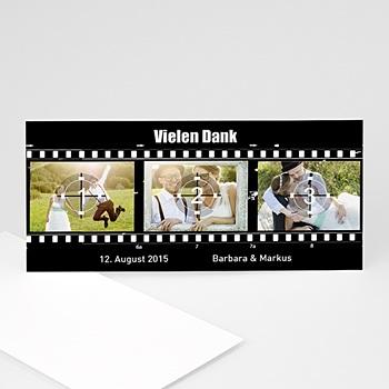 Danksagungskarten Hochzeit  - Film ab! - 1