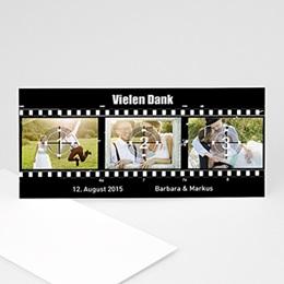 Danksagungskarten Hochzeit Filmklappe
