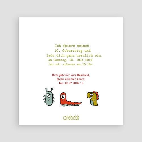 Geburtstagseinladungen Jungen - Kleine Monster 22508 thumb