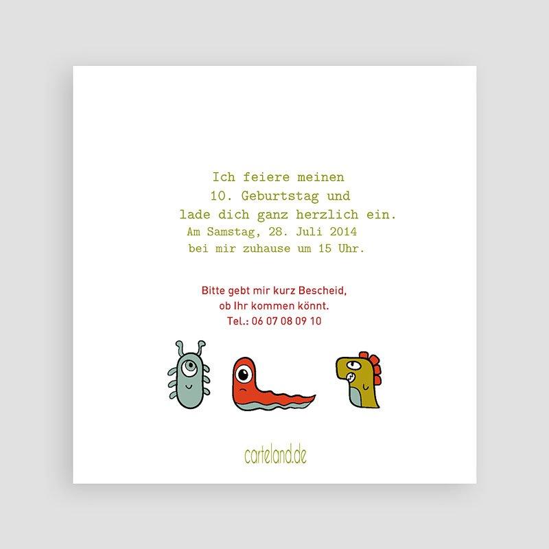 Einladungskarten Geburtstag Jungen Kleine Monster pas cher