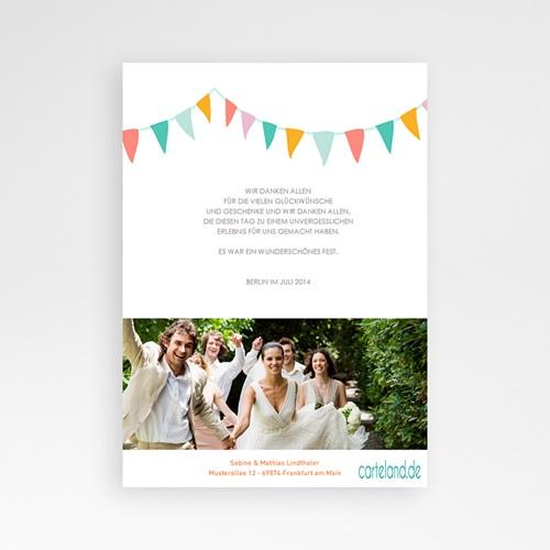 Danksagungskarten Hochzeit  Fähnchen pastell pas cher