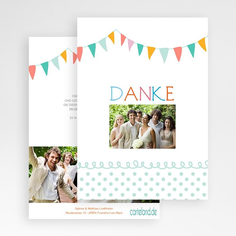 Danksagungskarten Hochzeit  Fähnchen pastell gratuit