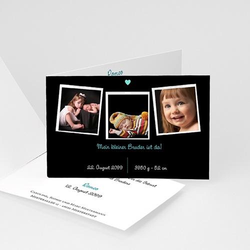 Babykarten für Jungen - Blaues Herz 22551