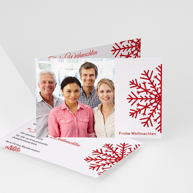 Geschäftliche Weihnachtskarten Unser Team