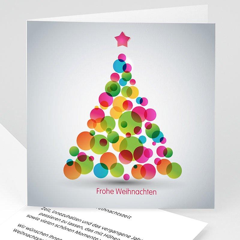 Geschäftliche Weihnachtskarten Bunter Weihnachtsbaum