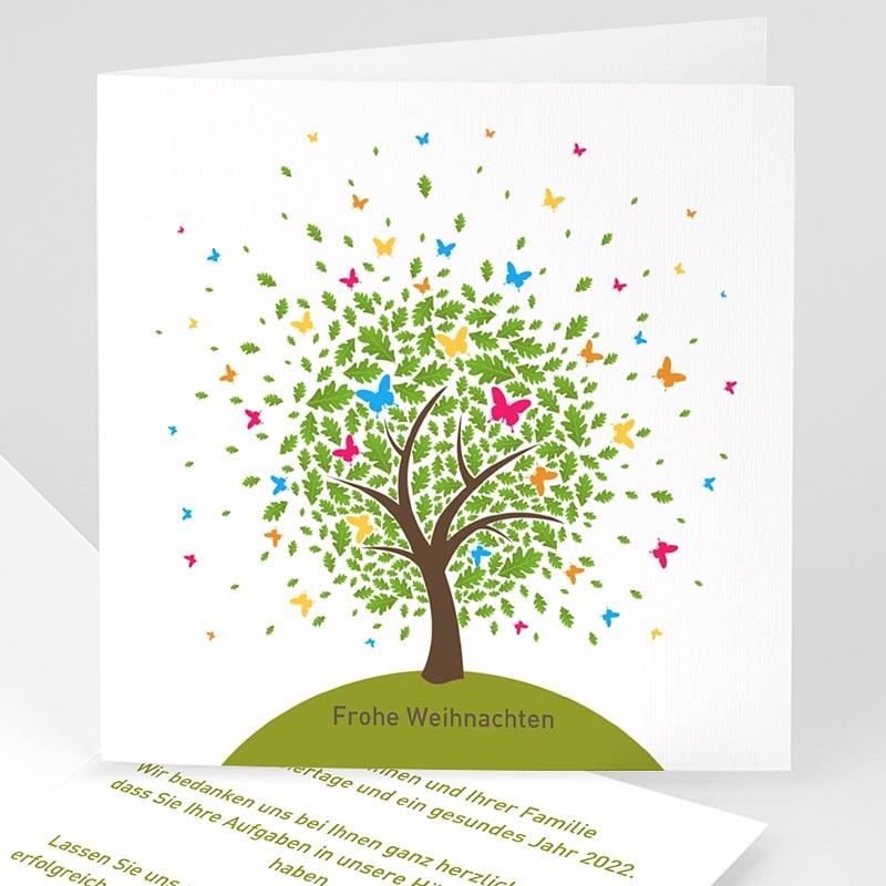 Geschäftliche Weihnachtskarten Schmetterlingsbaum