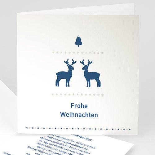 Geschäftliche Weihnachtskarten Blaue Renntiere
